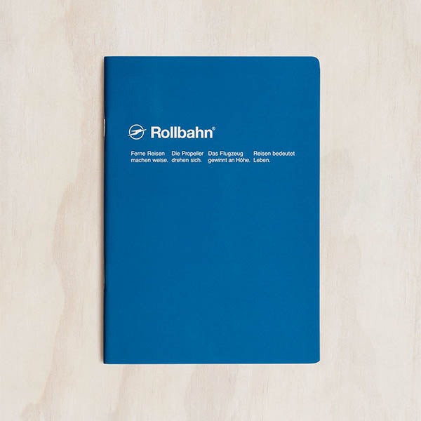 Delfonics - Rollbahn Slim Notebook - Grid - A5 - Blue
