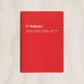 Delfonics - Rollbahn Slim Notebook - Grid - A5 - Red