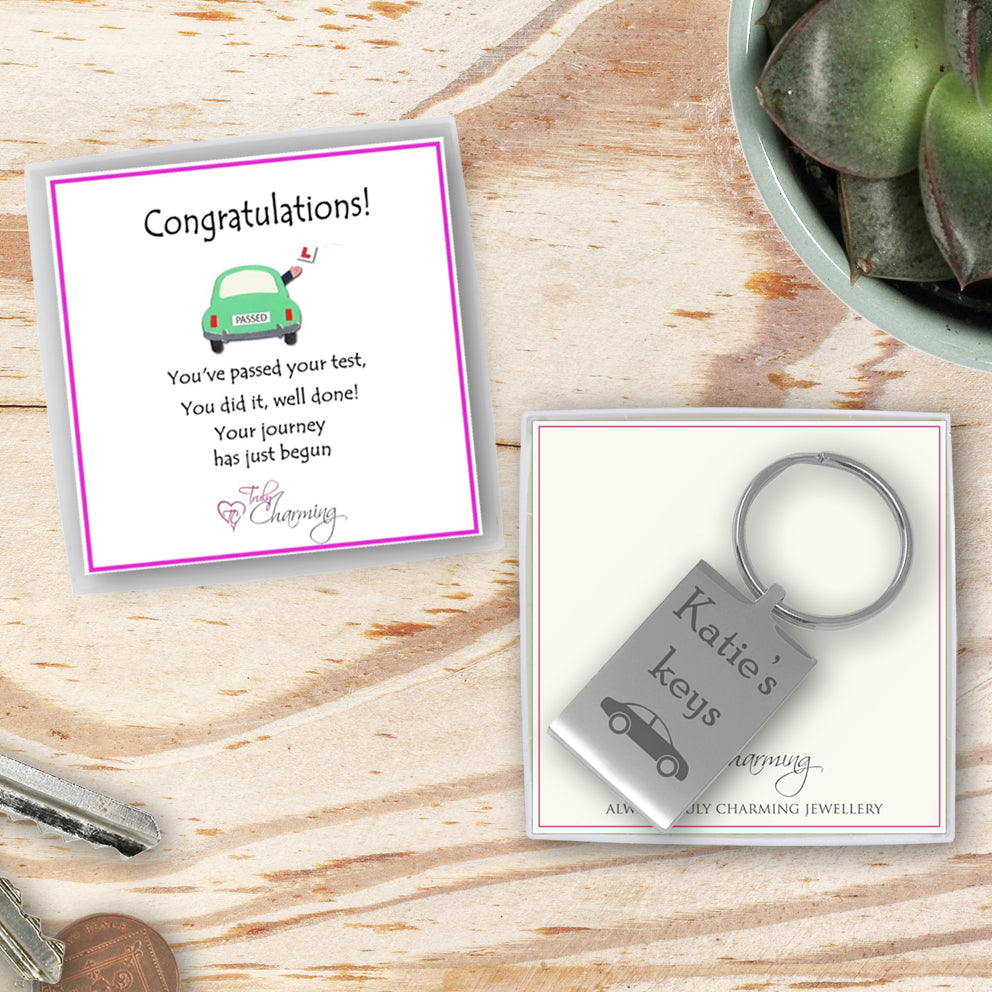 Congratulations! You've Passed Your Driving Test Rectangle Keyring