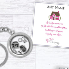 New Home Housewarming Floating Charm Keyring