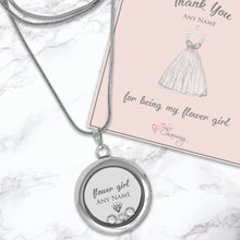Thank You For Being My Flower Girl Floating Charm Locket Made With 3 Crystals From Swarovski