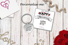 Love Laughter & Happily Ever After Engraved Heart Keyring
