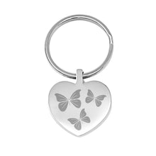 Thank You Engraved Heart Keyring