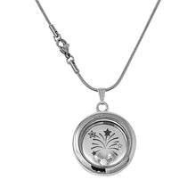Sorry You're Leaving Floating Charm Locket Made With 3 Crystals From Swarovski