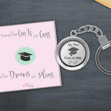 Congratulations On Your Graduation Floating Charm Keyring Made With 3 Crystals From Swarovski