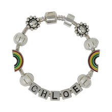 Always Look For The Rainbow Personalised Childrens Bracelet
