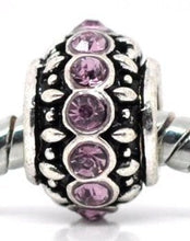 Silver Purple Charm Bead Set Of 5 For Pandora Troll Chamilia Style Charm Bracelets