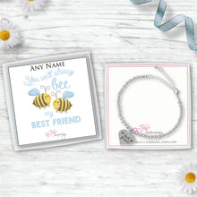 You Will Always Be My Best Friend Silver Plated Beaded Bracelet With An Engraved Heart Dangle