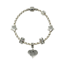 Sorry You're Leaving Genuine Leather Charm Bracelet With An Engraved Heart Dangle