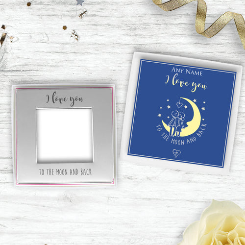 I Love You To The Moon And Back Engraved Magnetic Photo Frame