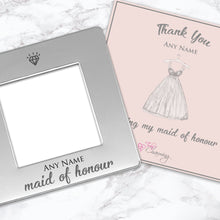 Thank You For Being My Maid Of Honour Engraved Magnetic Photo Frame