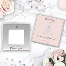 Thank You For Being My Flower Girl Engraved Magnetic Photo Frame