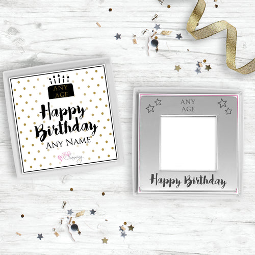 Engraved Magnetic Birthday Photo Frame. Engraved With Recipients Age
