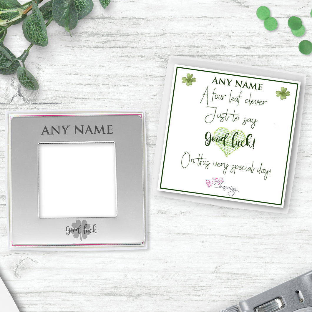 Good Luck Engraved Magnetic Photo Frame