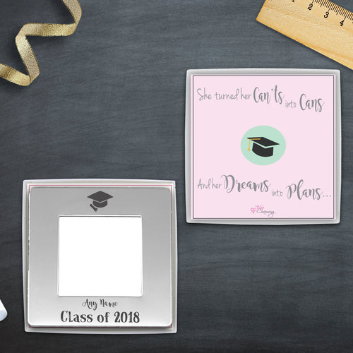 Congratulations On Your Graduation Engraved Magnetic Photo Frame
