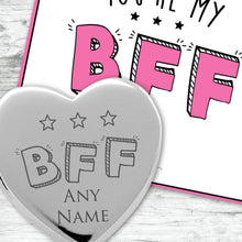 You're My BFF Engraved Heart Charm