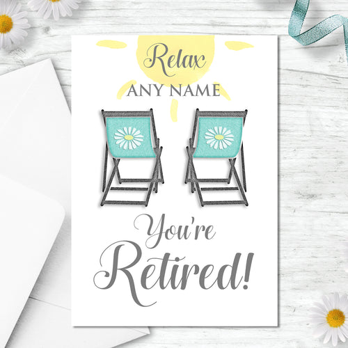 Personalised Good Luck On Your Retirement Greeting Card
