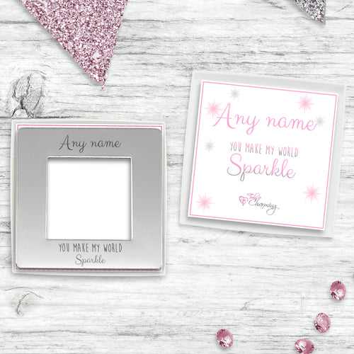 Magnetic Photo Frame with Sparkle Collection Presentation Gift Box