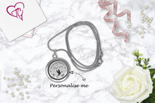 Personalised In Loving Memory Floating Charm Locket Made With 3 Crystals From Swarovski