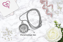 Personalised Love Heart Floating Charm Locket Made With 3 Crystals From Swarovski