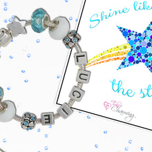 Shine Like The Stars Childrens Personalised Name Charm Bracelet