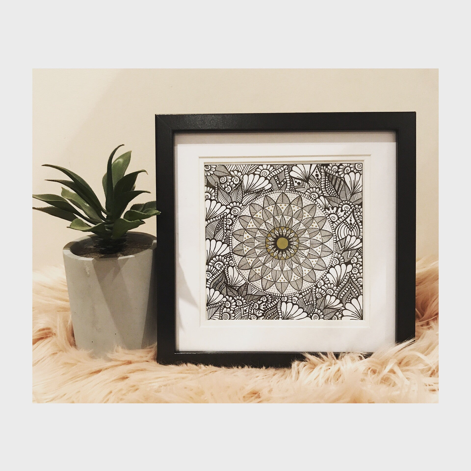Mandala Zentangle - Small - Print