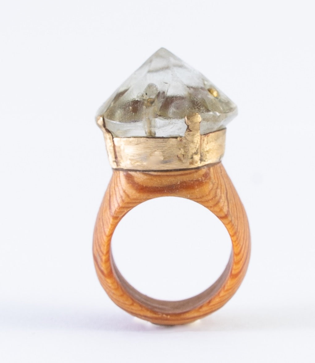 CHANDELIER CRYSTAL RING