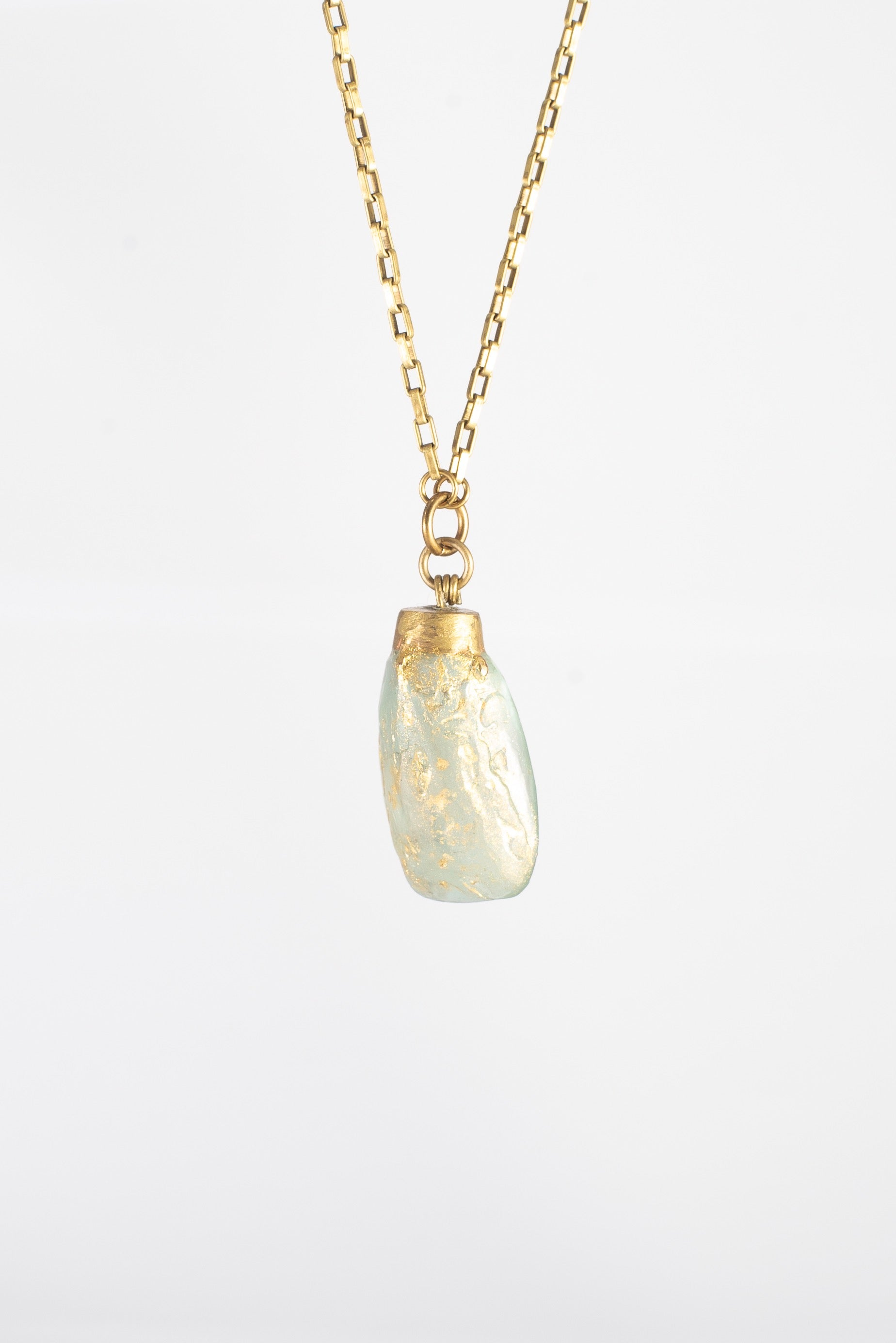 SALE SALE - FLUORITE with GOLD  DUST pendant