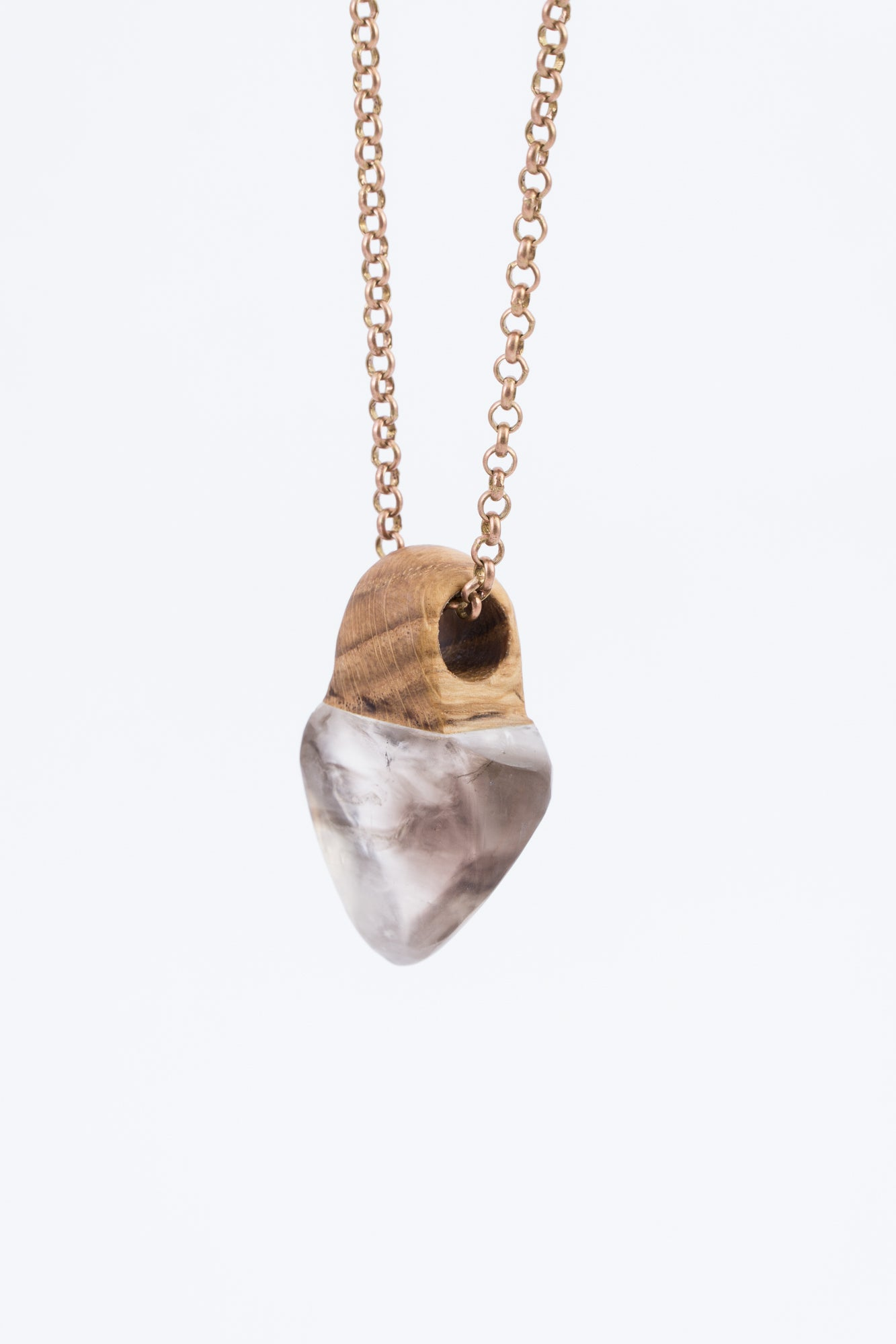 CRYSTAL & WOOD pendant