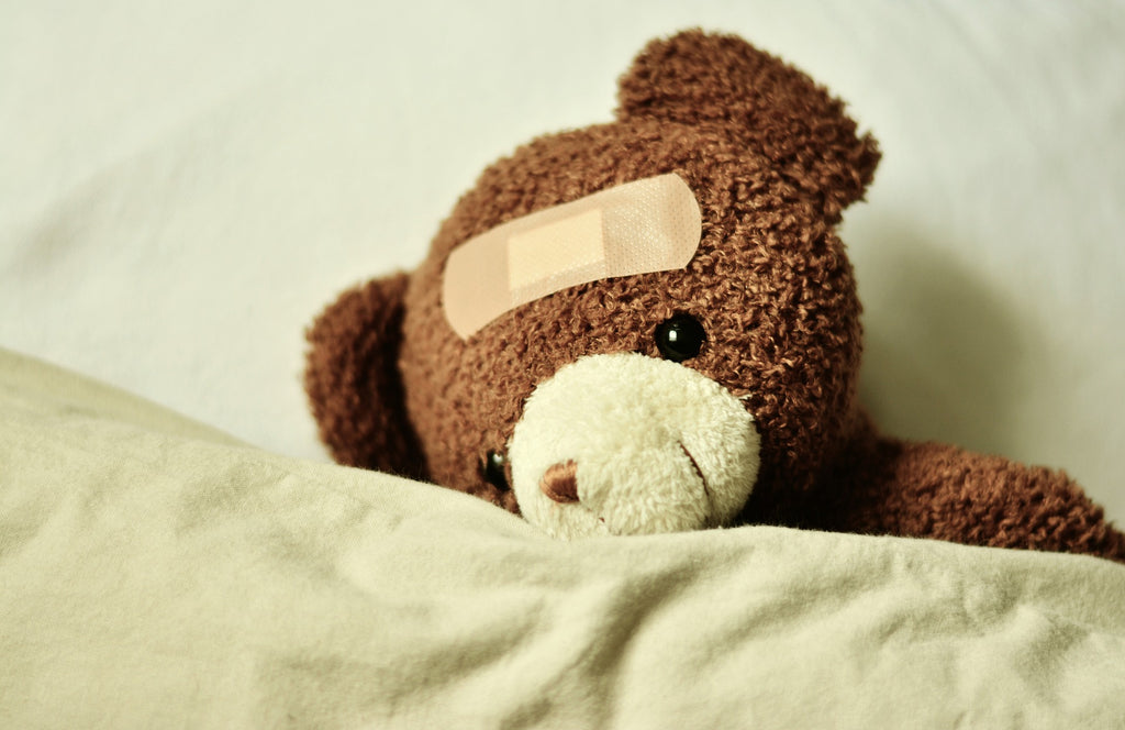 bandaged teddy fixing unhealthy behavior ending violence