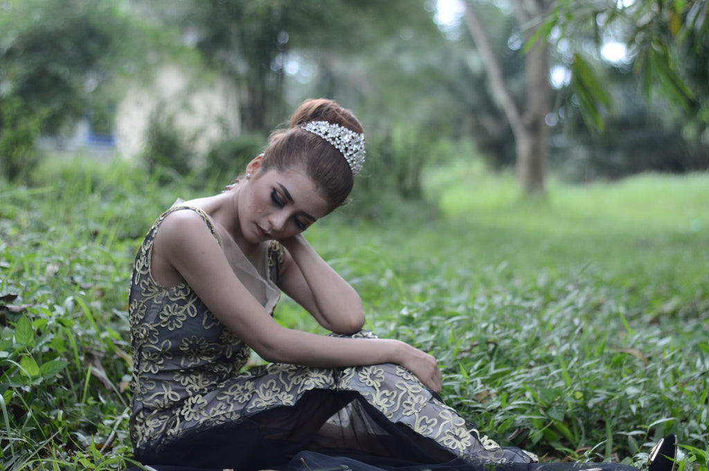 princess sitting on grass substance and drug abuse