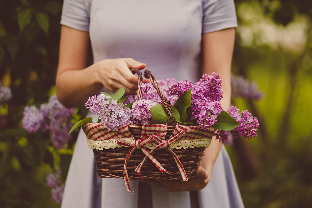 woman holding basket with flower the enabler abusive type cease the abuse
