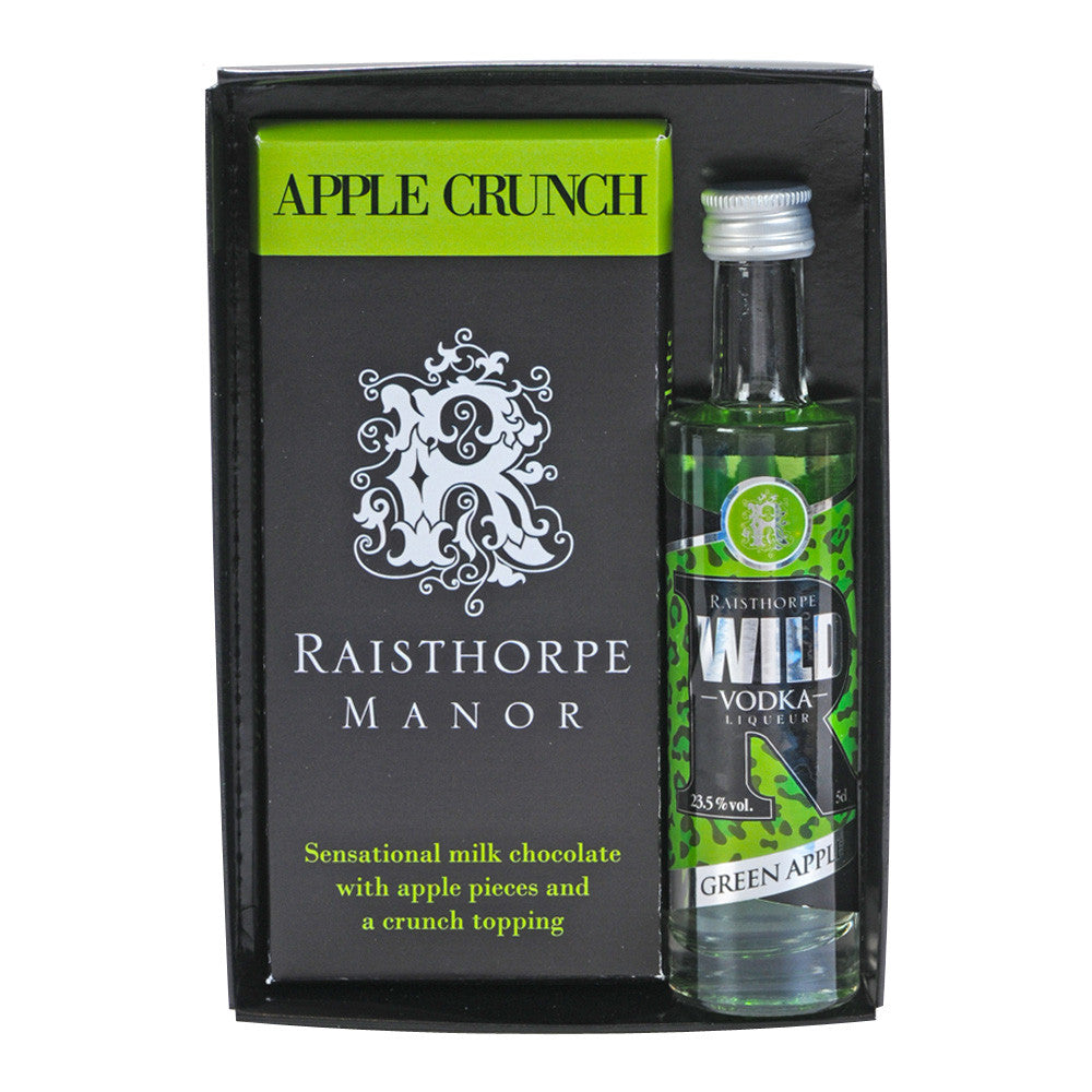 Apple Crunch Chocolate Bar with Vodka Gift Set