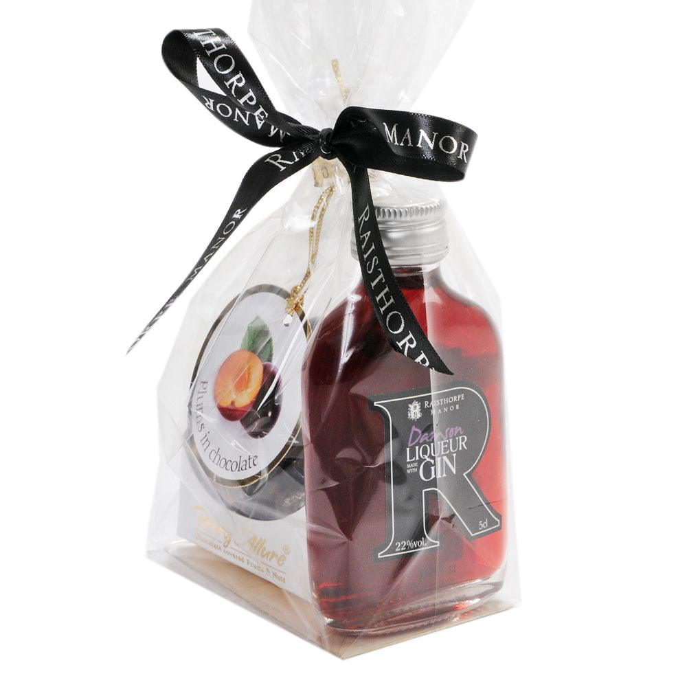 Damson Gin Liqueur and Chocolates