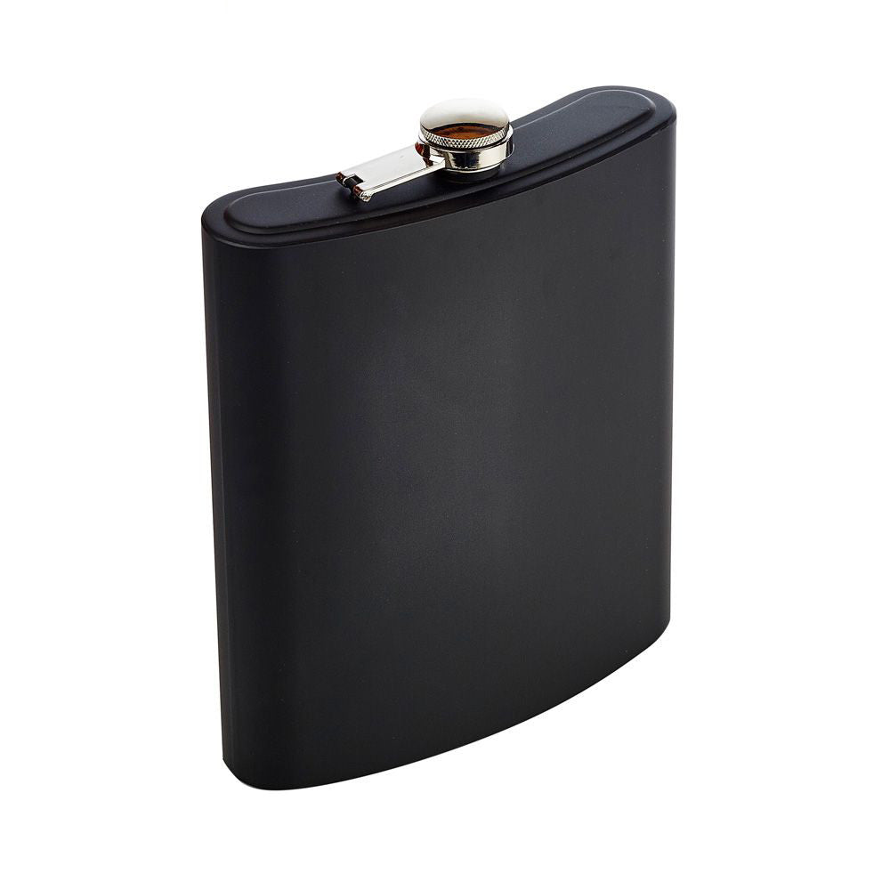 Giant Matt Black Hip Flask