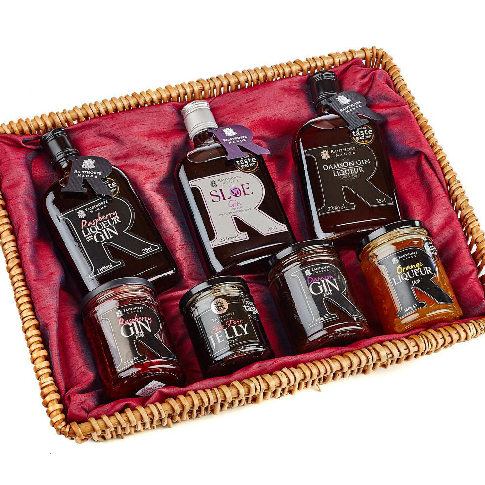 Gin Collection 35cl and Jams Basket