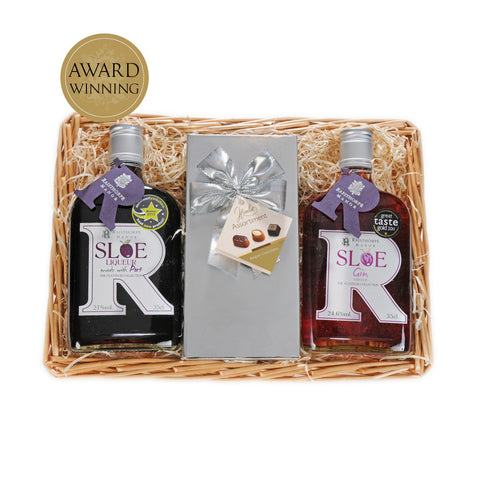 Sloe Gin, Sloe Port and Chocolates Basket