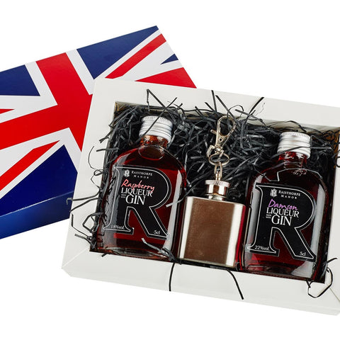 Union Jack Mini Hip Flask Gift Set 1