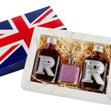 Union Jack Mini Hip Flask Gift Set 4