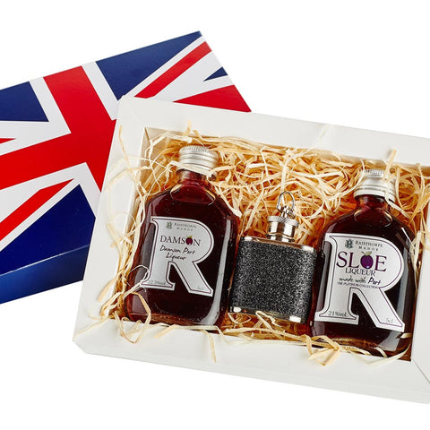 Union Jack Mini Hip Flask Gift Set 5