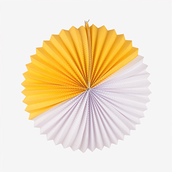 Yellow and White Paper Lantern