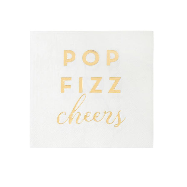 POP FIZZ CHEERS! Cocktail Napkins