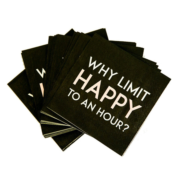 Happy hour cocktail napkins