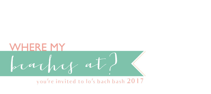 Beach Bachelorette Party Invitation Itinerary
