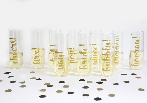 Party! Reusable Champagne Flutes