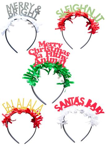 """Holiday"" Party Headbands"