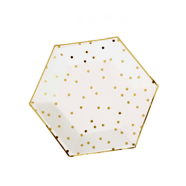 Gold Polka Small Dot Side Plates