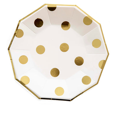 Gold Foil Polka Dot Large Plates