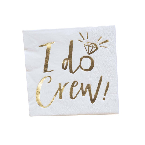 I Do Crew Cocktail Napkins
