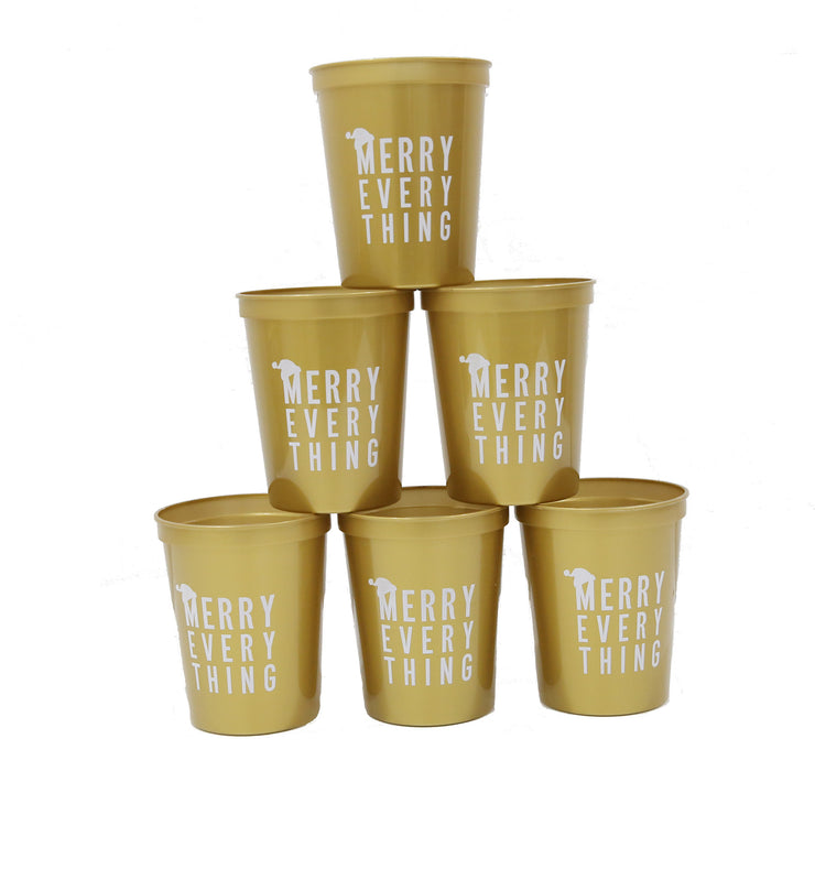 Merry Everything Stadium Cups